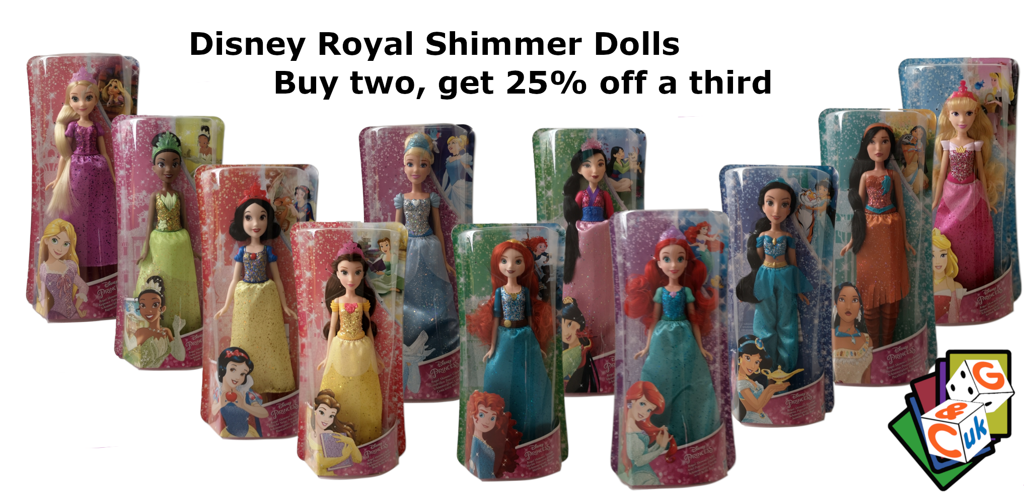 Disney Royal Shimmer Princesses Offer - Buy two, get 25% off a third
