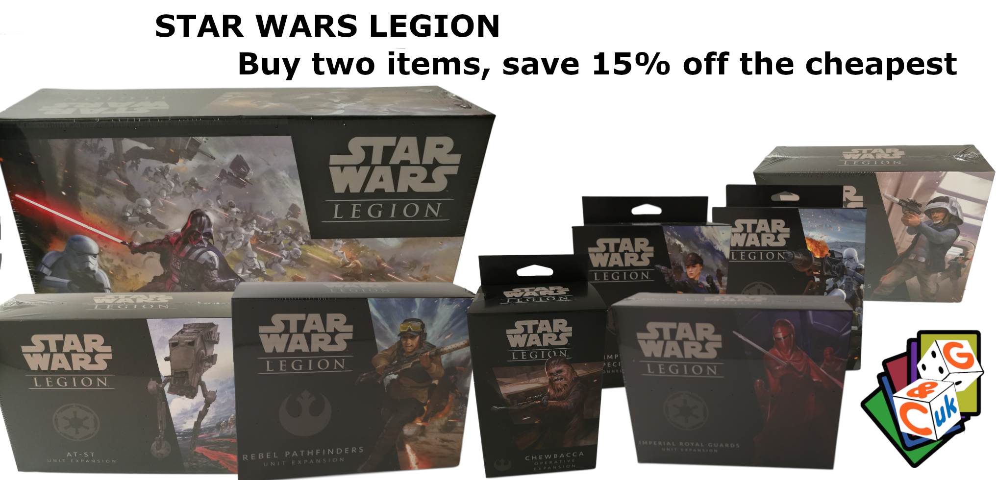 Star Wars Legion savings - Buy two items, save 15% off the cheapest