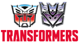 A picture showing the Autobot and Decepticon logos above the Transformers name.