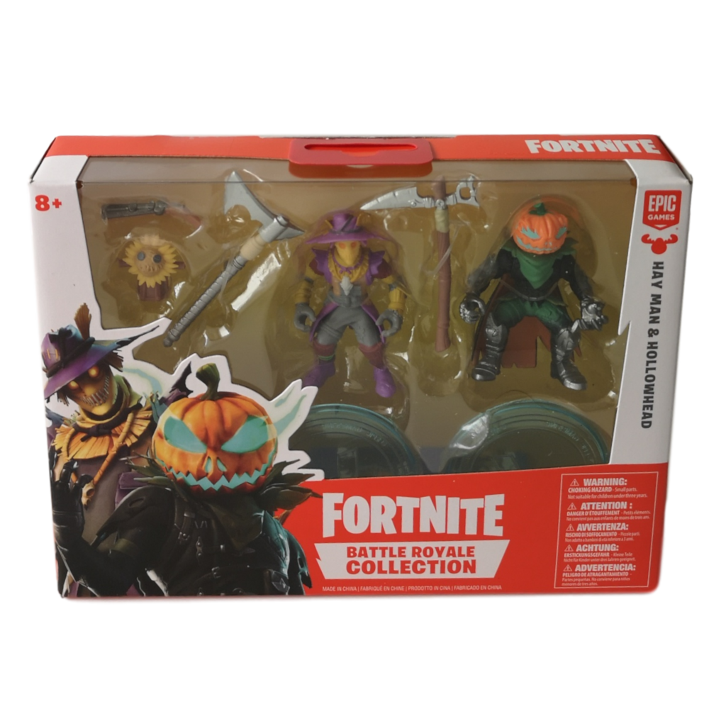 Fortnite Brown Man Fortnite Battle Royale Collection Hay Man Hollowhead 2 Duos Figure Pack