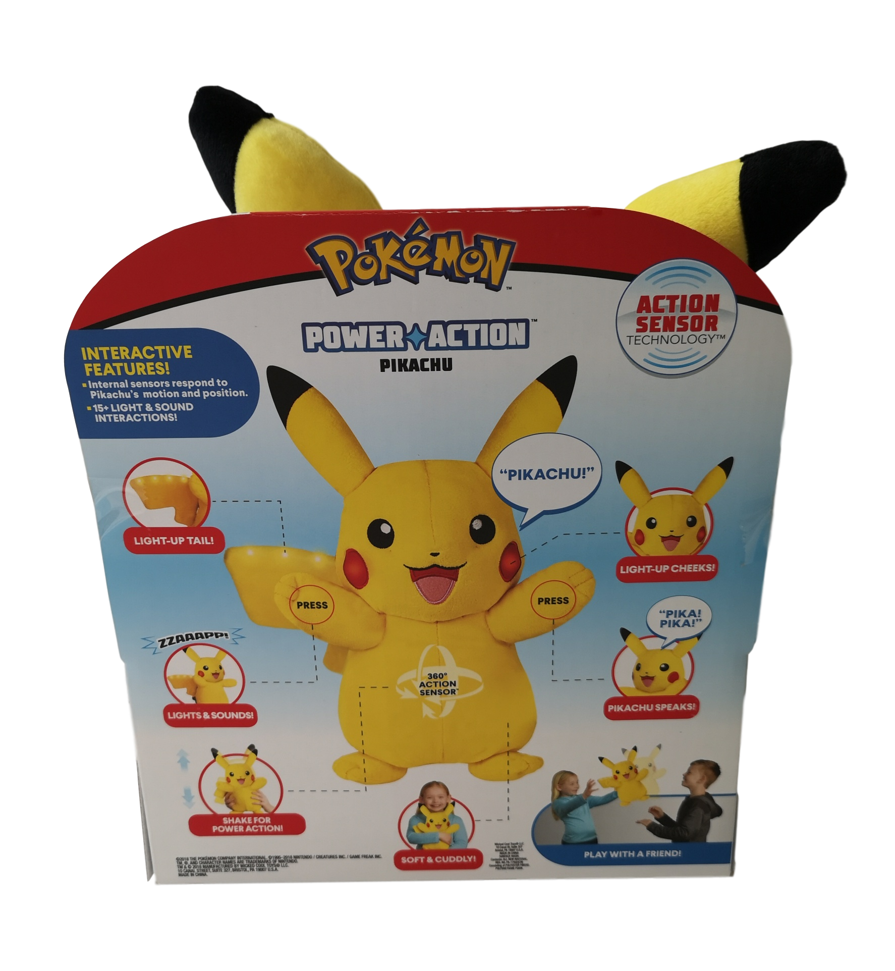 a43f5c31c7a16 Pokemon Power Action Pikachu with Action Sensor technology Other Toys &  Games